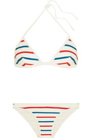 The Miranda striped triangle bikini