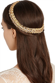 Hung Up gold-plated Swarovski crystal headband