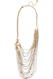Erickson Beamon Grapes of Wrath gold-plated, Swarovski crystal and faux pearl necklace