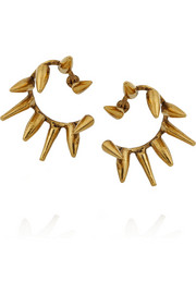 Erickson Beamon Grapes of Wrath gold-plated earrings