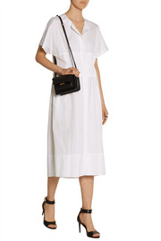 Cotton-poplin midi shirt dress