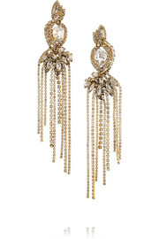Young and Innocent gold-plated Swarovski crystal earrings