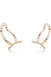 Erickson Beamon Stratosphere gold-plated, Swarovski crystal and faux pearl hair slides
