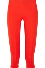 Tia cropped stretch-jersey leggings