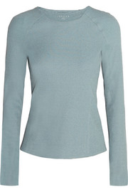 Foxie ribbed stretch-jersey top