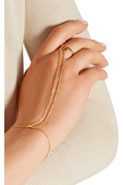 Nomi gold-plated finger bracelet