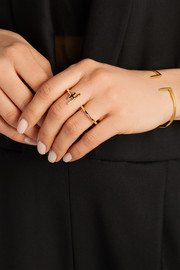 Hue gold-plated ring