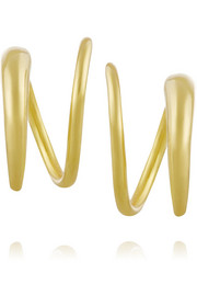 Tusk Twirl gold-plated earrings