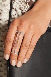 Nomi silver double ring