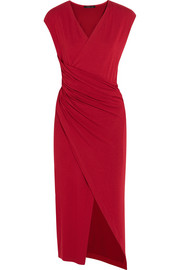 Donna Karan New York Ruched stretch-jersey dress