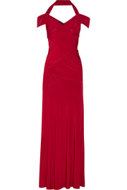 Donna Karan New York Halterneck stretch-jersey gown