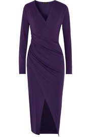 Wrap-effect jersey dress