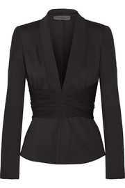 Donna Karan New York Belted stretch-jersey jacket