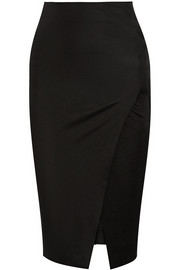 Donna Karan New York Wrap-effect stretch-jersey pencil skirt