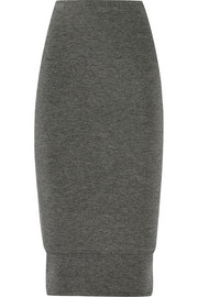 Layered stretch-jersey pencil skirt