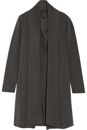 Draped cashmere coat