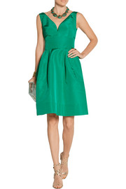 Oscar de la Renta Cutout silk-faille dress