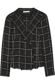 Checked wool-tweed jacket