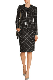 Oscar de la Renta Checked wool-tweed jacket