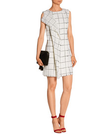 Oscar de la Renta Wrap-effect wool-tweed mini dress