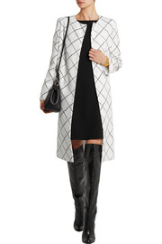 Oscar de la Renta Wool-tweed coat