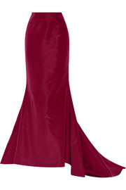 Silk-faille maxi skirt