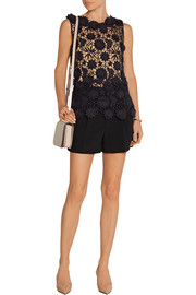 Guipure lace peplum top