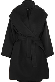 Belted double-faced cashmere coat