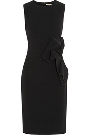 Appliquéd crepe dress