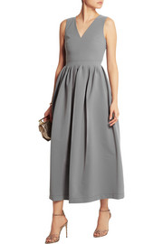Stretch-crepe midi dress