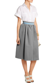 Stretch-crepe skirt