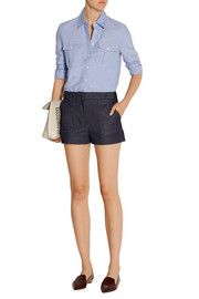 Victoria Beckham Denim Stretch-denim shorts