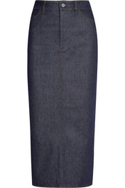 Stretch-denim pencil skirt