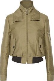 Victoria Beckham Denim Harrington cotton-canvas bomber jacket