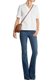 Victoria Beckham Denim Cotton-blend jersey top