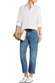 Victoria Beckham Denim Stretch cotton-blend poplin shirt