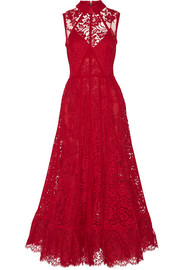 Cotton-blend lace gown
