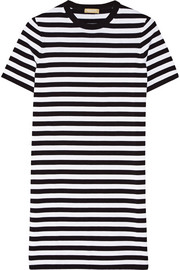 Striped cotton-jersey dress