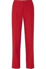Crepe straight-leg pants