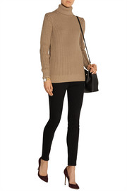Chunky-knit turtleneck sweater