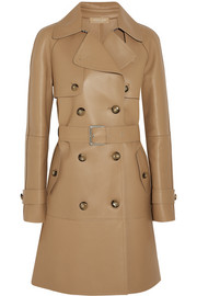 Michael Kors Bonded leather trench coat