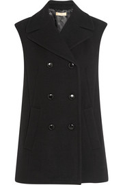 Oversized double-breasted wool vest