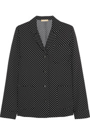 Polka-dot satin-crepe shirt