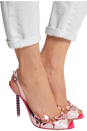 Flamingo PVC and patent leather sandals