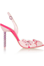 Sophia Webster Flamingo PVC and patent leather sandals