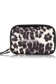 Voyage Travel leopard-print shell jewelry pouch