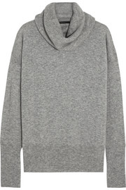 Cecilia cashmere and silk-blend turtleneck sweater
