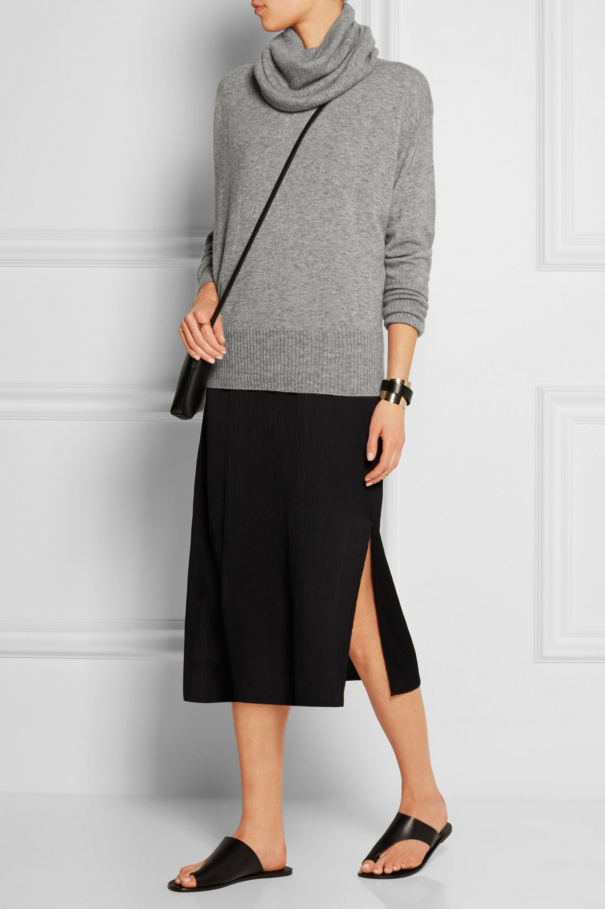 The Row Cecilia cashmere and silk-blend turtleneck sweater