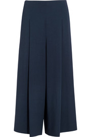 Loja cropped stretch-cady wide-leg pants