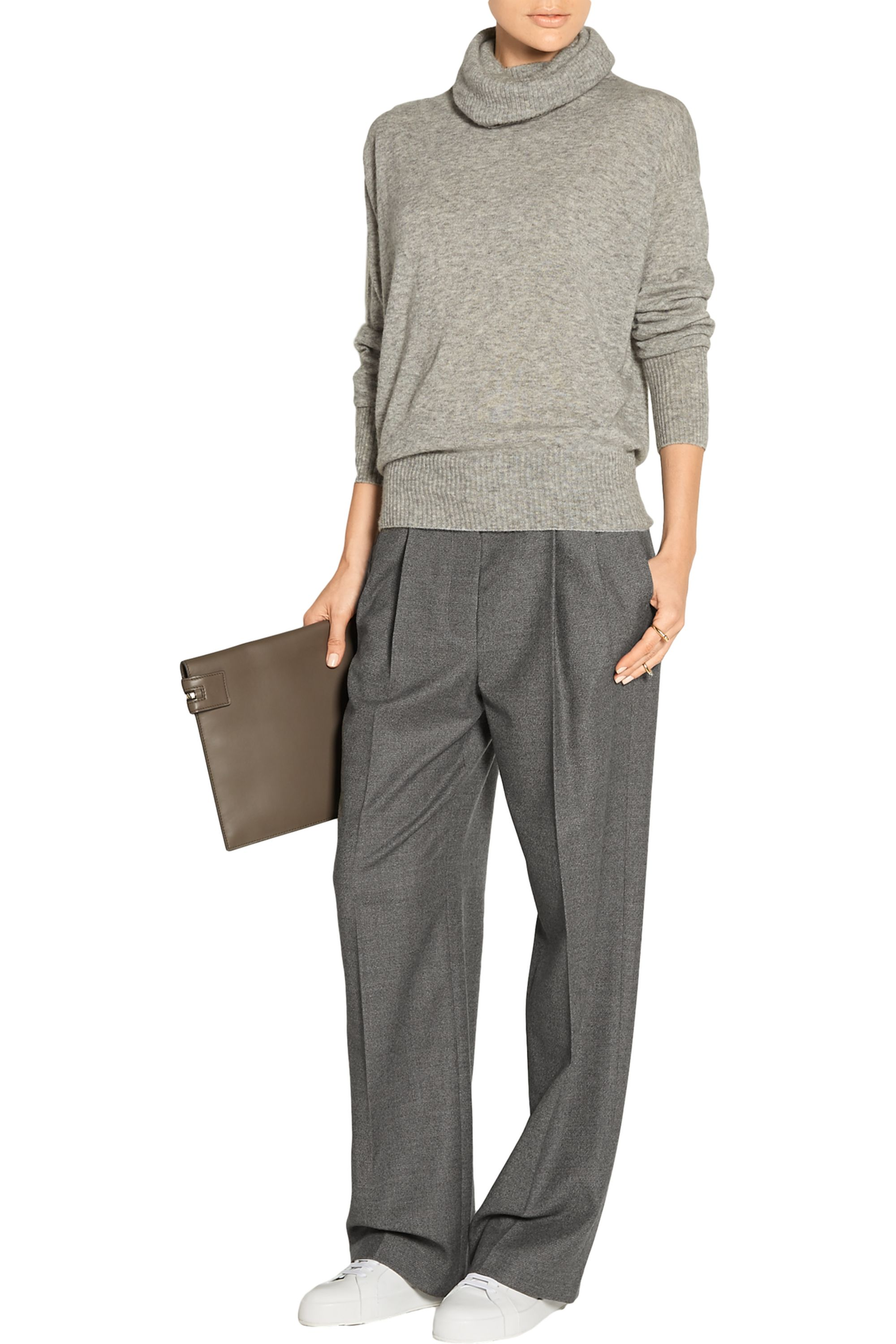 The Row Caray stretch-wool wide-leg pants